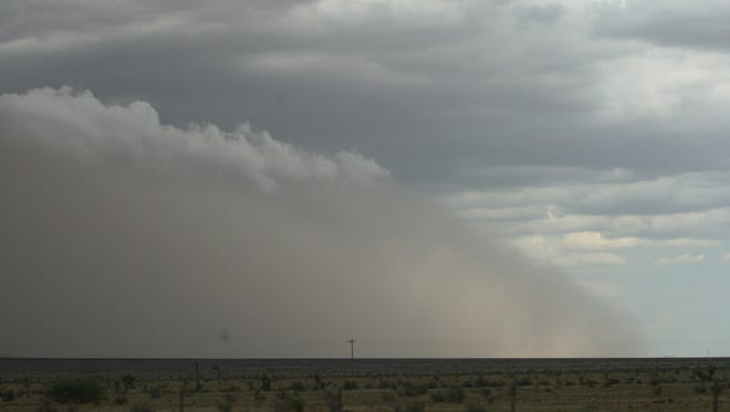 A dust storm in New Mexico is pictured in this undated image.