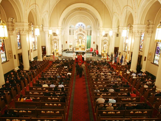 The annual Blue Mass was celebrated at St. Patrick's