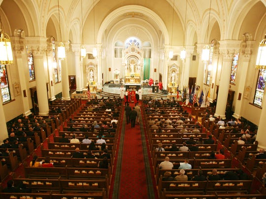 The annual Blue Mass was celebrated at St. Patrick's Cathedral.