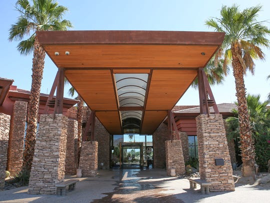 The clubhouse entrance at Desert Willow Golf Resort