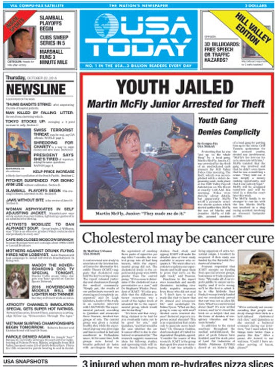 Fans race to get 'Back to the Future' paper
