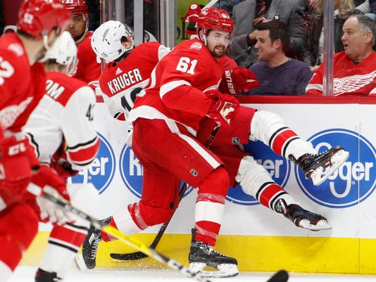 NHL: Carolina Hurricanes at Detroit Red Wings