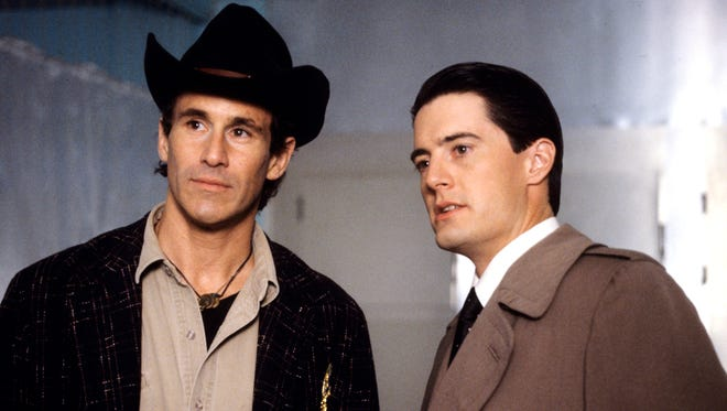 "Michael Ontkean, left, and Kyle MacLaughlin starred in the original ""Twin Peaks."""