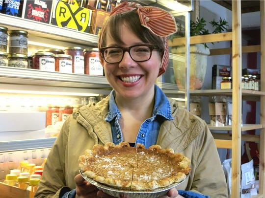 Lisa Ludwinski owns the Sister Pie bakery across the street from Parker Street Market in Detroit's West Village.