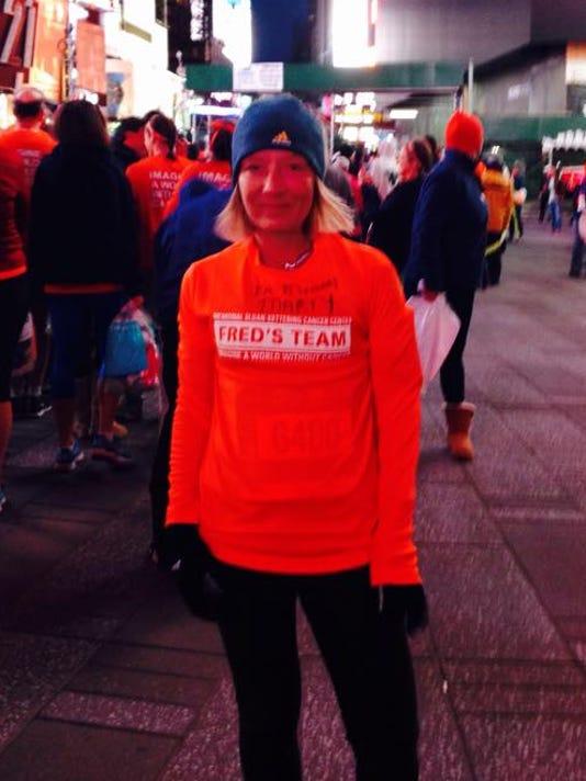 Angela Snyder at the New York Marathon