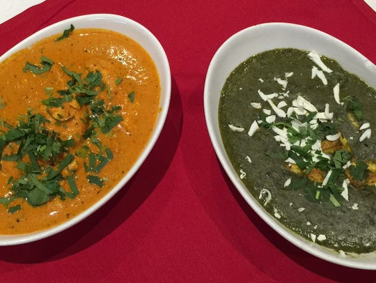 Chicken Tikka Masala and Palak Paneer half off at Amaya
