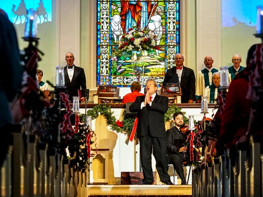 The annual Christmas Carol Sing at First Presbyterian Church in downtown Fort Myers.
