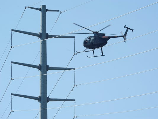 Atlantic City Electric using helicopters to inspect lines