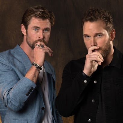 Who's the best Chris? Chris Hemsworth, left, and Chris