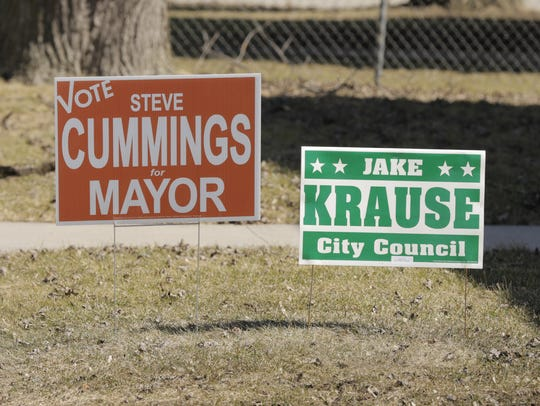 Campaign signs have been dotting the Oshkosh landscape