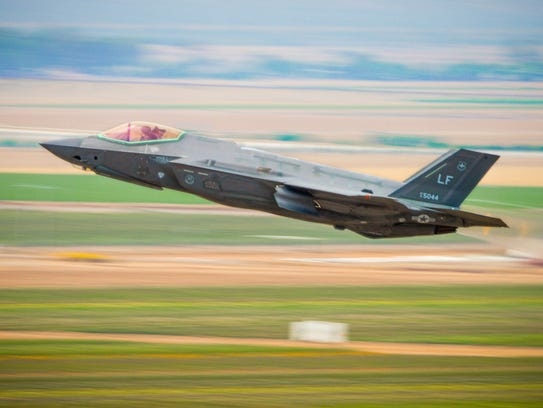 A 56th Fighter Wing F-35A Lightning II takes off from