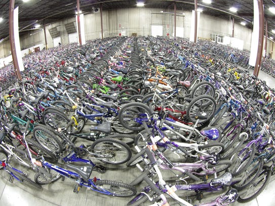 More than 5,000 bikes were collected for the Free Bikes
