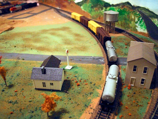 Barnhart is shown in a model at the Railway Museum