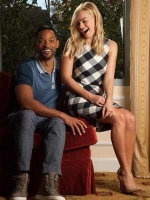 2-8-15 -- Westlake Village, CA  -- Will Smith and Margot Robbie star in the sleight of hand film, Focus.  CREDIT: Tim Rue for USA TODAY [Via MerlinFTP Drop]