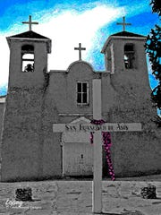 """""""Taos Mission"""" by Bill Lopez is a tribute a Lopez family heritage that stretches back more than 300 years."""