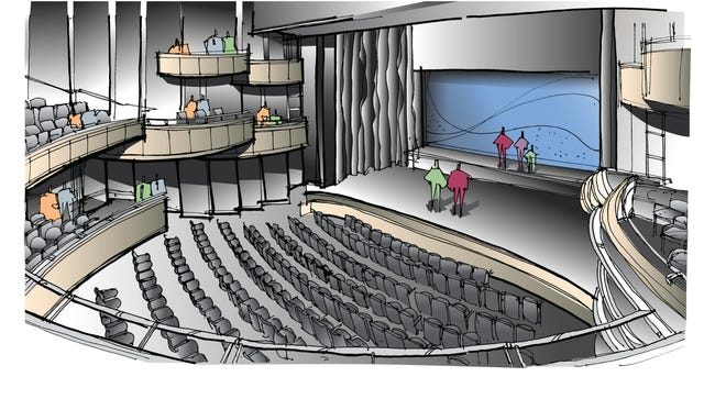 Cincinnati Playhouse in the Park building concept drawing, main stage.
