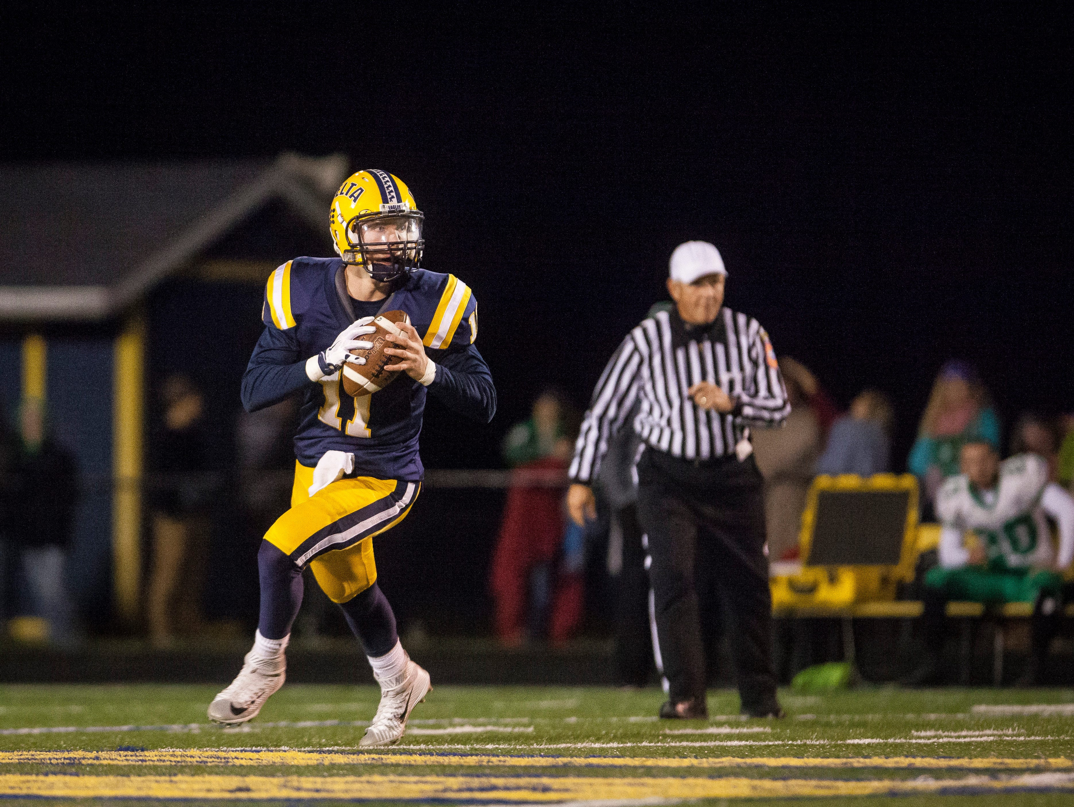 Delta won against New Castle Friday night with a final score of 49-7.