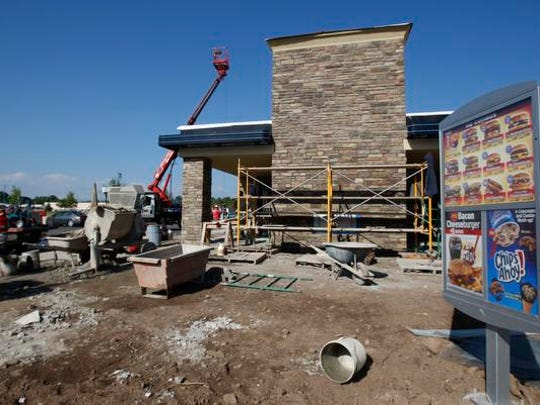 Finishing touches are put on the Hard Road Dairy Queen.