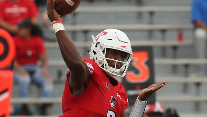 Austin Peay's JaVaughn Craig has completed 38 of 71 pass attempts for 366 yards, three touchdowns and three interceptions this season.