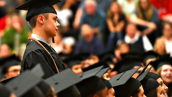 The 2018 Northeastern High School Commencement Ceremony at the school in Manchester Township, Thursday, May 31, 2018. Dawn J. Sagert photo