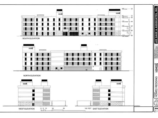 This design shows the proposed Home2 hotel that hotelier