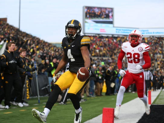 Iowa wide receiver Tevaun Smith has emerged as Iowa's