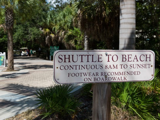 The Clam Pass Park offers a shuttle service at their