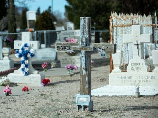 Pictured is the historic, but aging Doña Ana Cemetery,