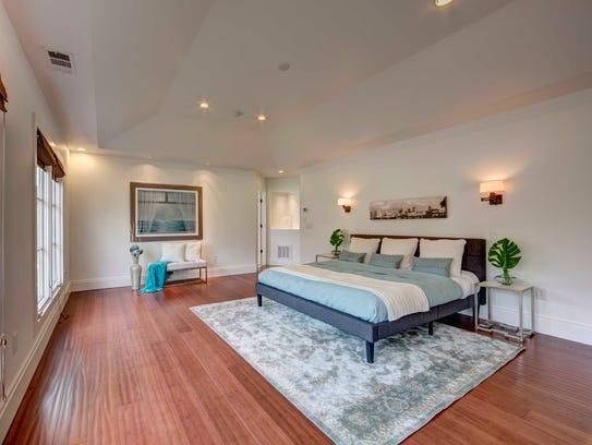 Master bedroom at 1008 Chancery Lane.