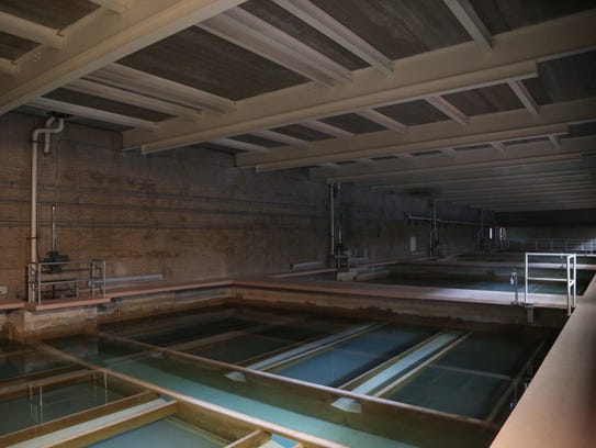 Inside the Des Moines Water Works filter building on