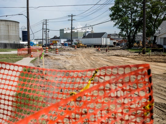 Construction is underway at St. Clair Highway and Mary