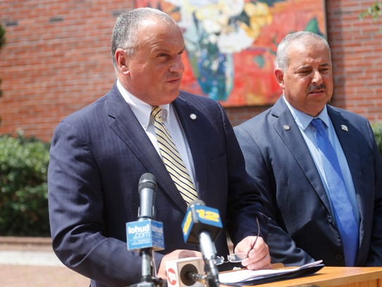 Peekskill Mayor Frank Catalina, who was joined by Councilman