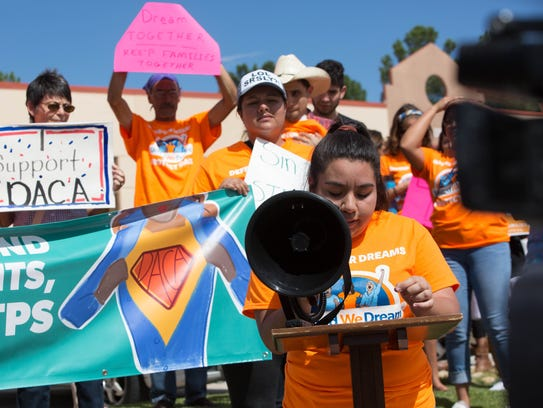 Lizeth Sandoval, 20, with the group NM Dream Team,