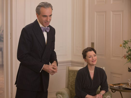 Daniel Day-Lewis, left, and Lesley Manville appear