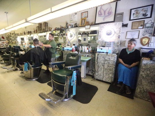 The Fox Plaza Barber Shop in the Fox Plaza Shopping