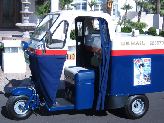 This 1957 three-wheeler was used as a mail car in Arizona