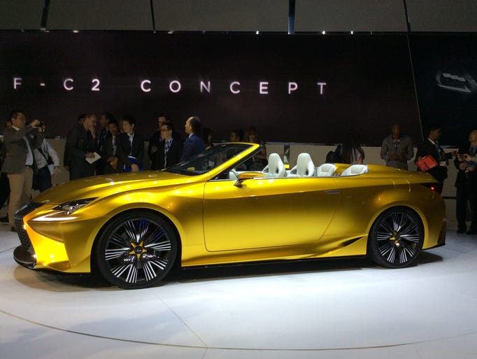 The Lexus LF-C2 concept car at the L.A. Auto Show.