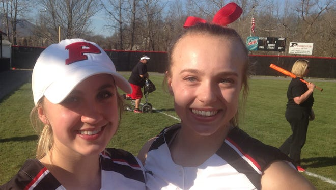 Pisgah's Madisyn Brown and Madison Whitted.