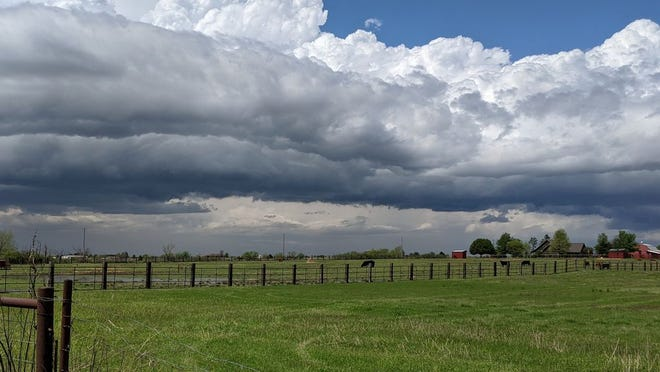 Storm clouds ahead of the Easter Day cold front