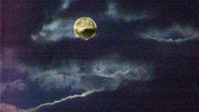 The full moon as seen over Monroe County in October 2005.