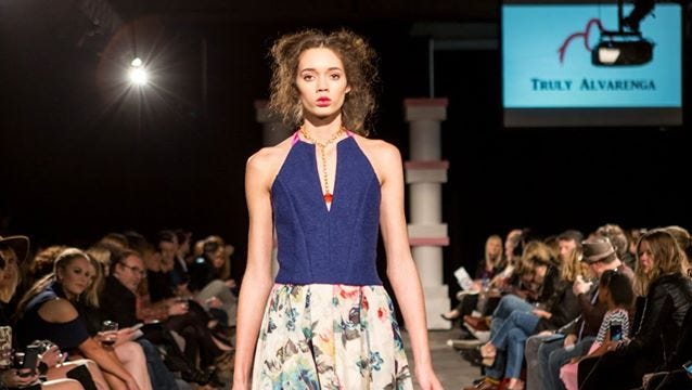 Fashions by Truly Alvarenga on the runway at Nashville Fashion Week.