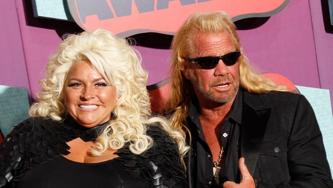 Beth Chapman and Duane Chapman arrive at the CMT Music Awards.