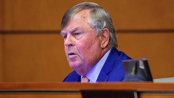 St. Johns County District 5 Commissioner Henry Dean attends a County Commission meeting at the county administration building on July 21.