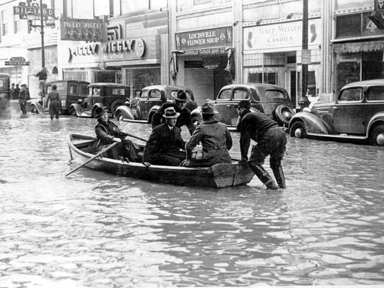 Louisville's Fourth Street looked more like a canal