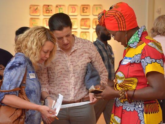 Subjects of Ophelia Chambliss' 'Contiguous' exhibit