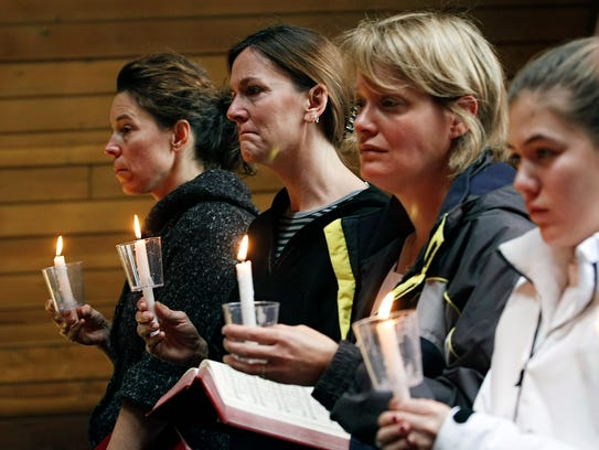Residents gather at the Kirkwood United Methodist Church