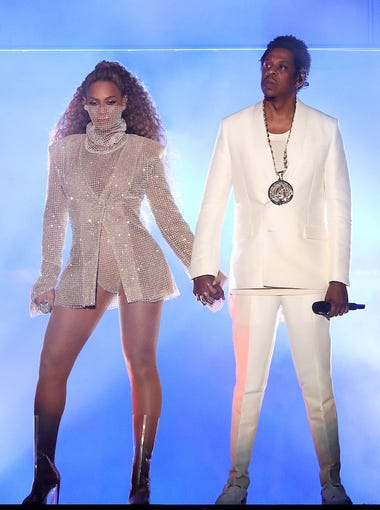 CARDIFF, UK - JUNE 6: Beyonce and Jay-Z perform on