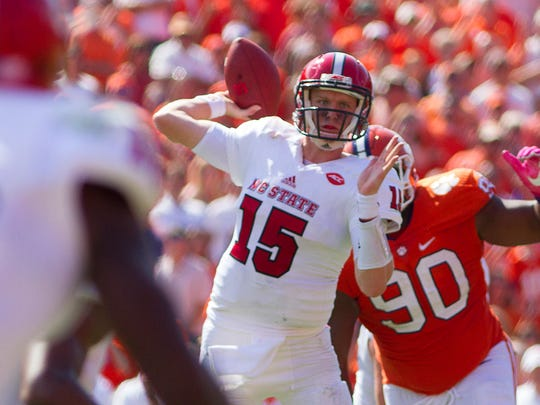 North Carolina State Wolfpack quarterback Ryan Finley.