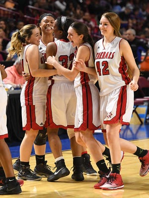 Wade Hampton plays Dorman during the Class AAAAA Girls Upper State Championship at Bon Secours Wellness Arena on Saturday, February 25, 2017 .