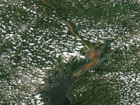 This aerial shot of the Susquehanna River so the amount